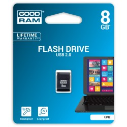 """Piccolo Goodram Usb Flash Drive 8 Gb, Usb 2.0 Juodas"