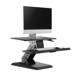 Stovas Už Klaviatūros Ir Stebėti Ar Nešiojamas Juodas Mc-792 Dirbti Atsistojus Sėdi -