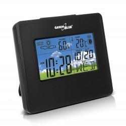 Orų Stotelės Laikrodis Kalendorius Mėnulio Fazės Greenblue Gb148B Juoda