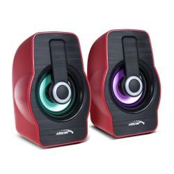 Kompiuteriniai Garsiakalbiai 6W Usb Juoda / Raudona Audiocore Ac855 R