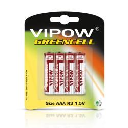 Akumuliatoriai Vipow Greencell R03 4Vnt / Bl