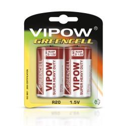 Baterijos Vipow Greencell R20 2P / Bl