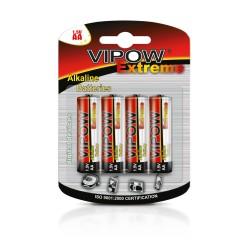 Šarminės Baterijos Lr06 Vipow Extreme 4Szt./Bl.