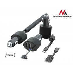 2Xusb Automobilių Çkroviklio, Microusb 1.8M Spiralės Maclean Mce775.2A