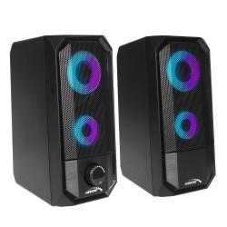 """Kompiuteriniai Garsiakalbiai """"Bluetooth 4.2, 3.5Mm Mini Jack, Usb 5V Audiocore Juoda Galia 10W Ac845 - Ste"""