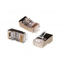 Mctv-664 Rj45 Plug 8P8C 5E Ekranuotas Kabelis 100 Vienetų Maclean