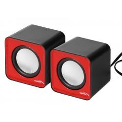 Ac870 R 43.397 6W Kompiuterio Usb Garsiakalbis Red & Black
