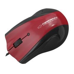 Em125R Pelės Laidinio Usb Optinis 3D Gelio Padas, Raudona