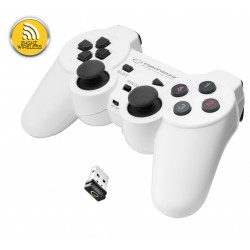 Egg108W Belaidis Gamepad Pc / Ps3 Usb Gladiatorius Juoda Ir Balta