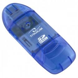 Ta101B Sdhc Kortelių Skaitytuvas Mėlyna Titaninė