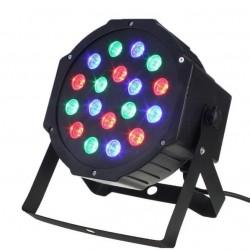Disko lempa, 18 šviesos diodų, 3 RGB šviesos diodai su rėmeliu