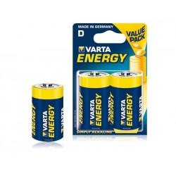 BAT0234 Varta LR20 Energiją naudojanti šarminė baterija (2 vnt./lizdinė plokštelė)