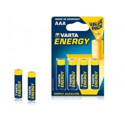 Baterija alkaline VARTA R3 (AAA) 4vnt energy