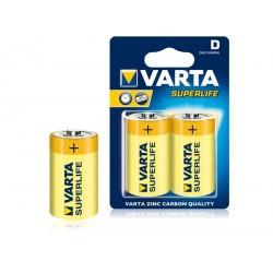 BAT0249 Varta R20 superlife baterija (2 vnt./lizdinės plokštelės)