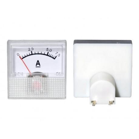 51-507 Miernik analogowy mini 7.5A + bocznik