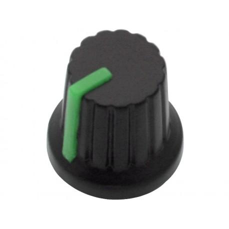 7980 Potenciometro rankenėlė N-3 ašis 6mm žalia skaitiklį