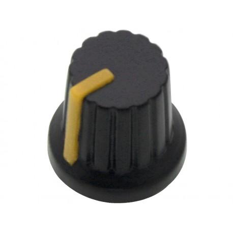 7979 Gałka potencjometra N-3 oś 6mm wskaźnik żółty