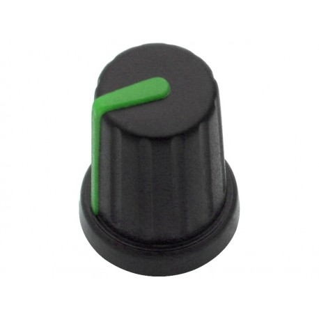 7974 Gałka potencjometra N-9 oś 6mm wskaźnik zielony