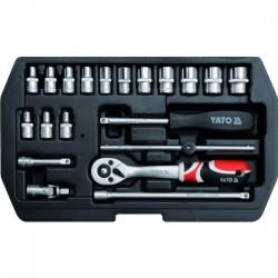 YT-1449 Įrankių rinkinys 1/4 colio, kpl. 20 vnt. Xs