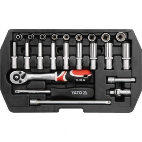 YT-1445 Įrankių rinkinys 1/4 colio, kpl 23 vnt,xs
