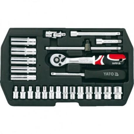 YT-1446 Įrankių rinkinys 1/4 colio, kpl. 25 vnt., xs