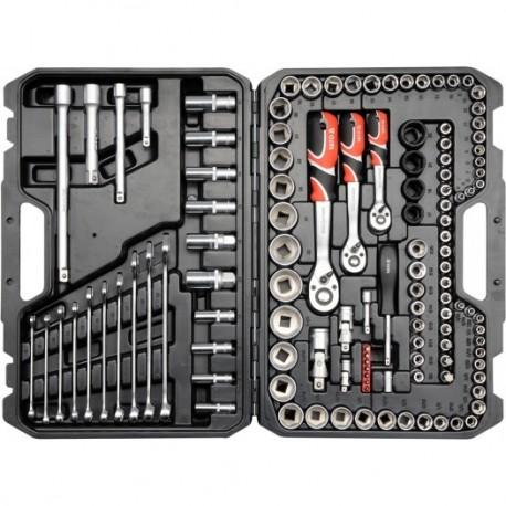"""YT-38801 Zestaw narzędziowy 1/2"""" 120 części XL"""