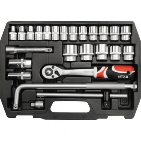 YT-3874 Zestaw narzędziowy 1/2 cala, 25 cz., l