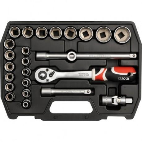 YT-3871 Įrankių rinkinys 1/2 colio, kpl. 25 vnt. M
