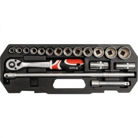 YT-3870 Zestaw narzędziowy 1/2 cala, kpl.18 szt., s
