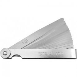 YT-7220 Szczelinomierz 100mm, 17 listków 0,02-1 mm