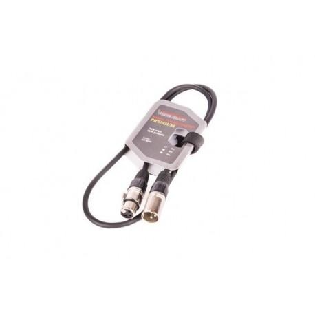 8002-1 Kabel XLR-XLR black VK 8002 1m