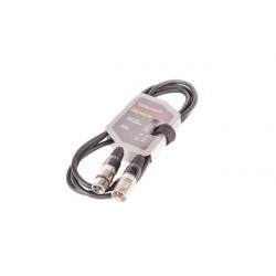 8002-2 XLR-XLR juodas VK 8002 2m kabelis