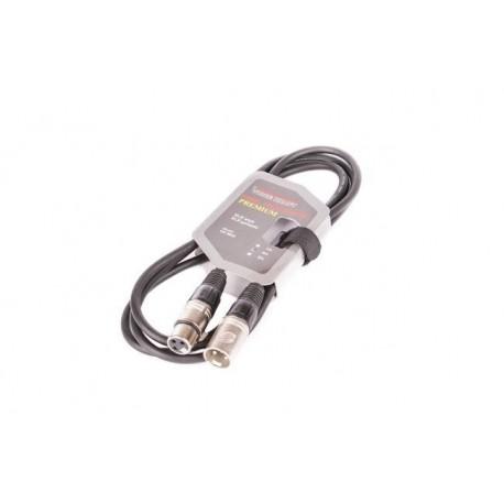 8002-2 Kabel XLR-XLR black VK 8002 2m