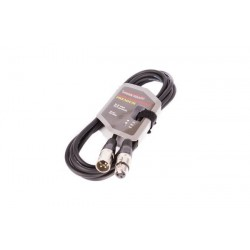 8002-3 XLR-XLR kabelis juoda VK 8002 3m
