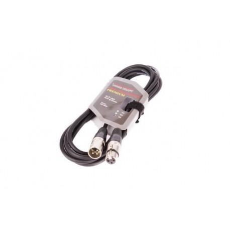 8002-3 Kabel XLR-XLR czarny VK 8002 3m