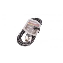8002-5 Kabel XLR-XLR juodas VK 8002 5m