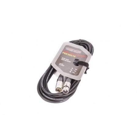 8002-5 XLR-XLR juodas VK 8002 5m kabelis