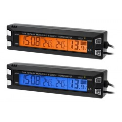 Ag97 Uhr Auto Thermometer Voltmeter 3In1