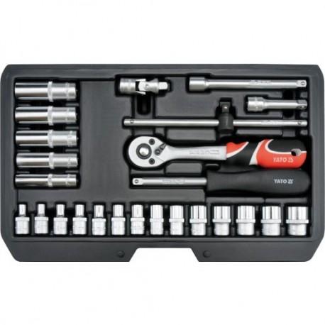 """YT-14461 Komplet narzędziowy 1/4"""" - zestaw 25 sztuk"""