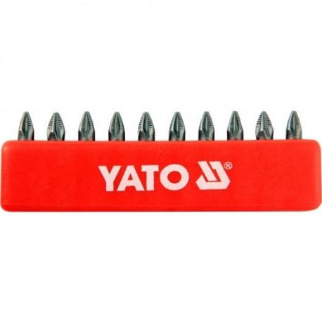 YT-0470 Końcówki wkrętakowe pz1x25 mm, komplet 10 sztuk