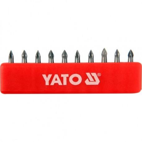 YT-0473 Końcówki wkrętakowe ph0x25 mm, komplet 10 sztuk
