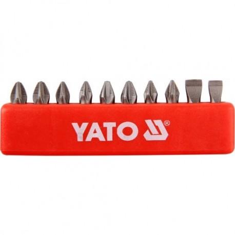 YT-0482 Końcówki wkrętakowe 25 mm, mix, komplet 10 sztuk