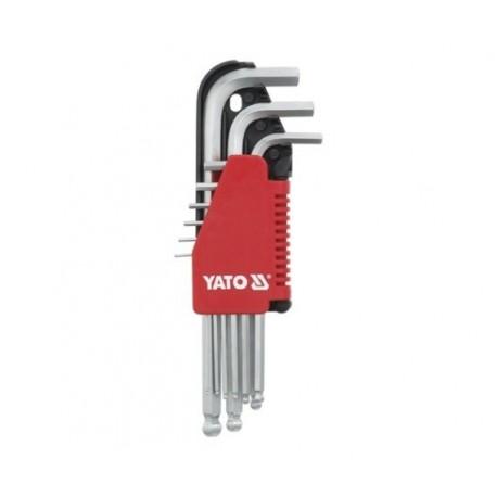 YT-0505 Allen raktai šešioliktulė, rutulys, 1,5-10mm, 9 vnt.