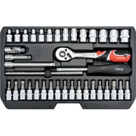 """YT-14471 Zestaw narzędziowy 1/4"""", 38 części"""