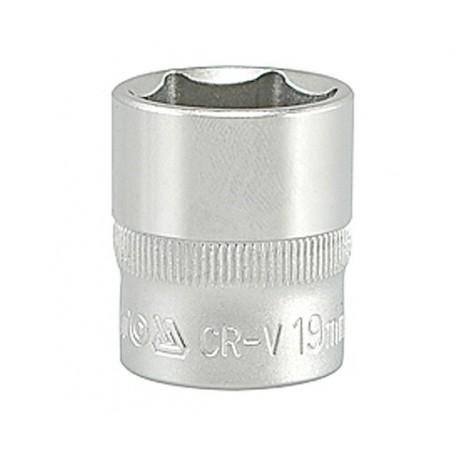YT-3814 Nasadka 19mm 3/8 6-kątna cv krótka