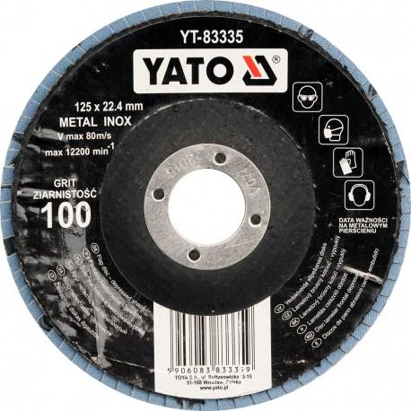 YT-83336 Ściernica listkowa wypukła 125mm P120 inox