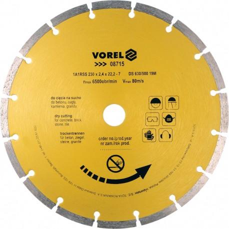 08715 Tarcza diamentowa 230mm segmentowa