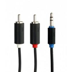7200-200 Balso kabelis Kraft 7200 2m 2 rca - prijunkite 3.5mm juoda garso