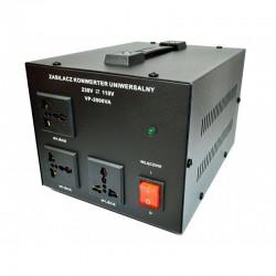 5K230110200 Įtampos keitiklis 230V -- 110V 2000VA Soft-Start
