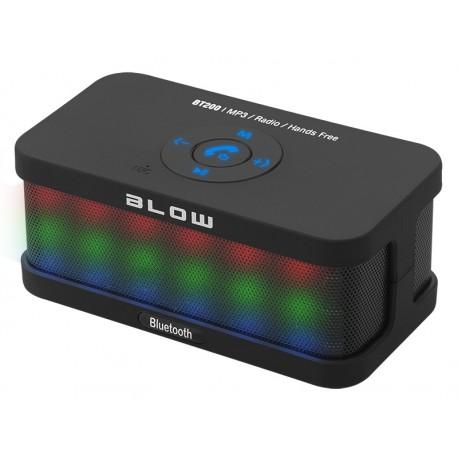 30-315 Głośnik przenośny bluetooth BT200 FM / czarny